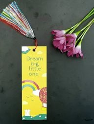 Bookmark-:-Dream-big-little-one-(Rainbow-Tassel)