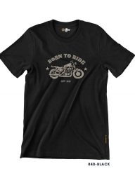 T-Shirt-:-THCR40-Born-To-Ride